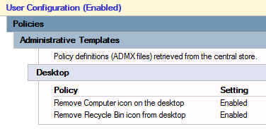 Windows - Remove Desktop Icons