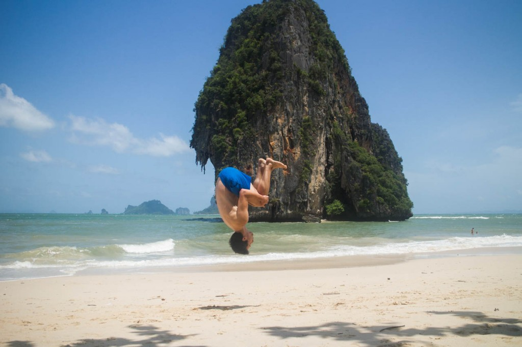 Another backflip with a beautiful background.