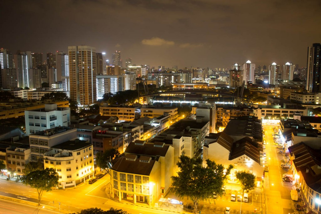 This is a long exposure shot of Singapore city.