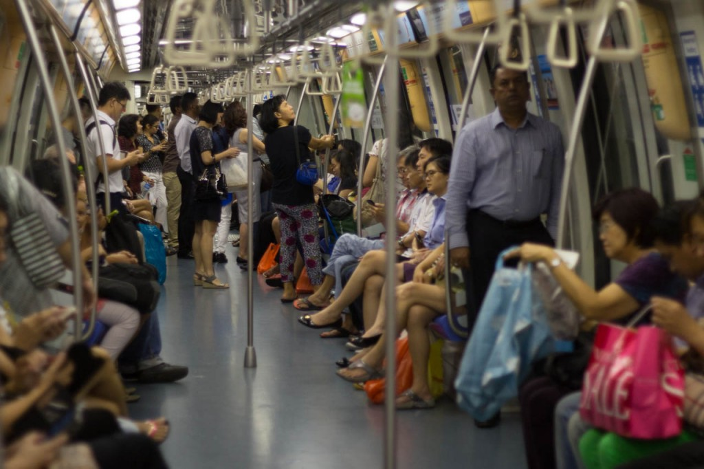 The Singapore metro trains are the most convenient way to get around the city.