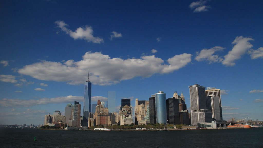 Take the free Staten Island ferry and you'll get this beautiful view of New York.
