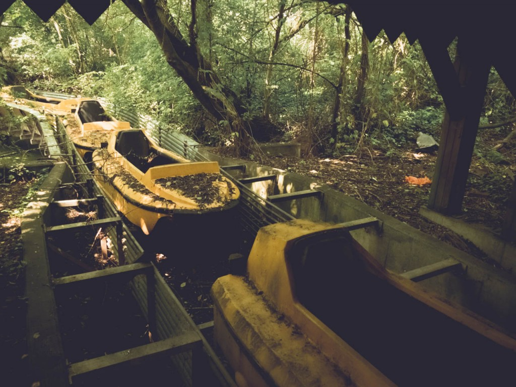Yellow boats in the jungle.