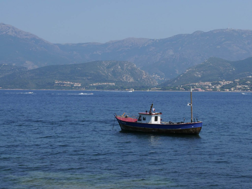 This boat anchored in the bay of Saint Florent.