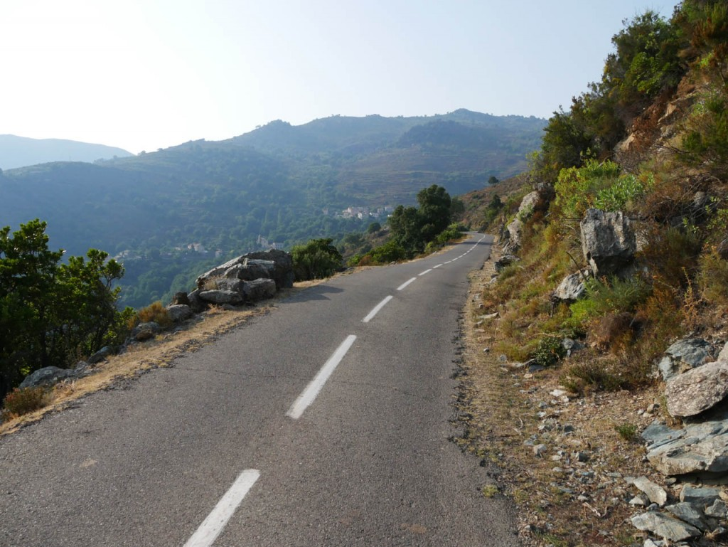 Corsica is a paradise for cyclers. The mountains are scattered with narrow streets.