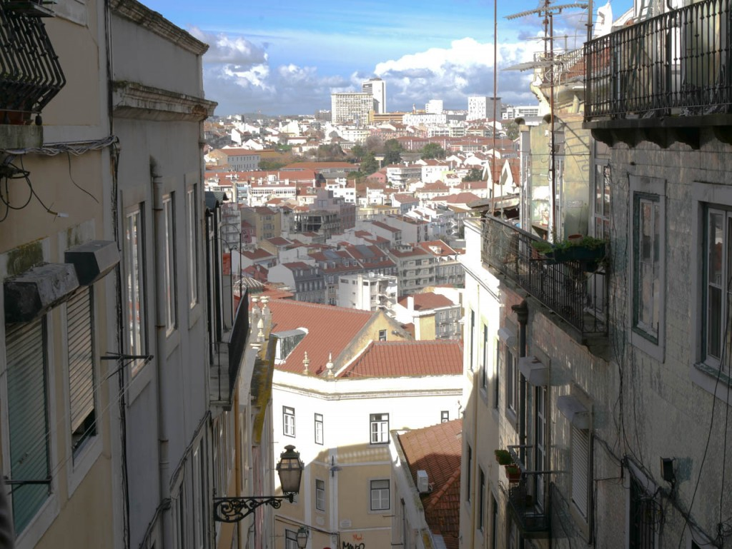Lisbon is well known for its narrow streets and steep stairs.